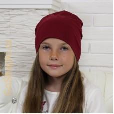 """Летняя шапка """"Бордо"""""""