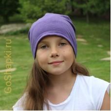 """Летняя шапка """"Фиолетовый"""""""