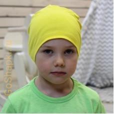 """Летняя шапка """"Желтый"""""""