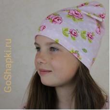 """Летняя шапка """"Розы шик"""""""